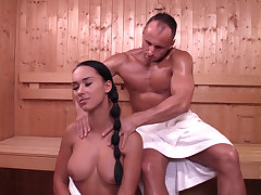 Czech girl Victoria Attractive in sauna