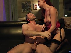 Riding a big load of gumshoe makes Lacy Lennon reach an orgasm